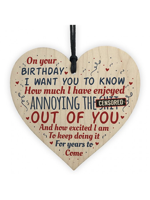 Funny Birthday Gift For Mum Dad Brother Sister Funny Card