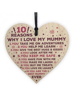 Mummy Gifts From Son Mother And Daughter Gifts Heart 10 Reasons