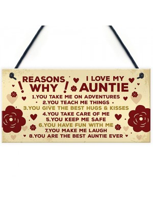 Auntie 40th 50th 60th Birthday Card Gift Plaque Mothers Day Gift