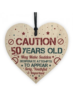 50 Birthday Decorations Heart Funny 50th Birthday Present Gift