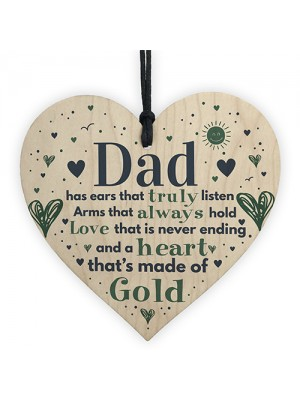 Fathers Day Gift Wooden Heart Gift For Dad Daddy Daugther Gifts