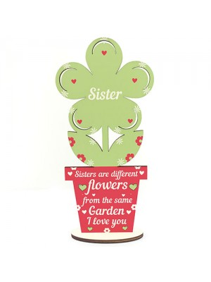 Novelty Sister Gifts Wooden Flower Birthday Gift For Sister