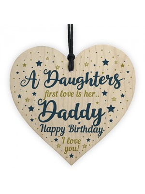 Daddy Gifts From Daughter Dad Birthday Gifts Wood Heart Dad Card