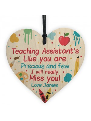 Personalised Thank you Teaching Assistant Gift Poem School