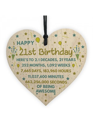 21st Birthday Gift For Daughter Son 21st Birthday Card Heart