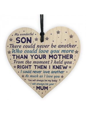 16th 18th 21st Birthday Gift For Son Wood Heart Son Christmas