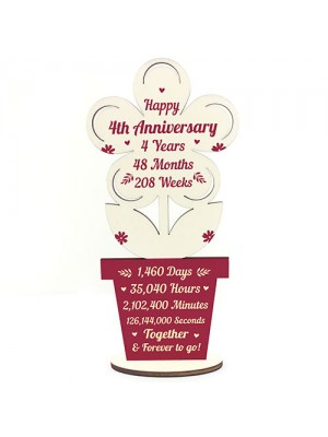 4th Wedding Anniversary Gift For Husband Wife Gift For Him Her