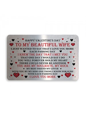 Valentines Day Gift For Wife Wallet Card Insert Gift For Her