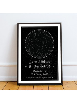 Anniversary Gifts For Boyfriend Husband Personalised Star Map