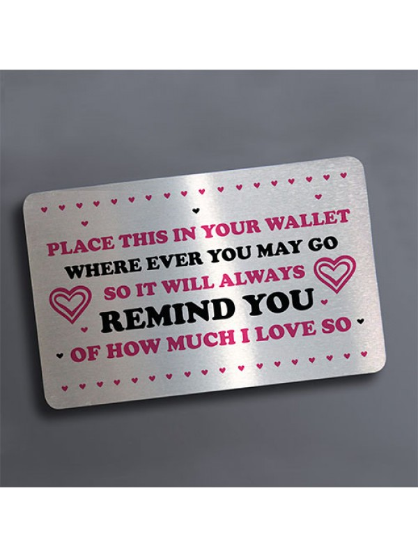 Metal Card For Wallet Novelty Gift For Mum Dad Boyfriend