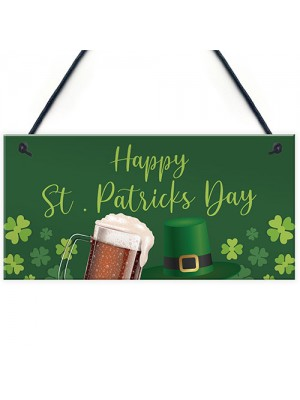 Happy St Patricks Day Decorations Hanging Sign Novelty Gift Sign