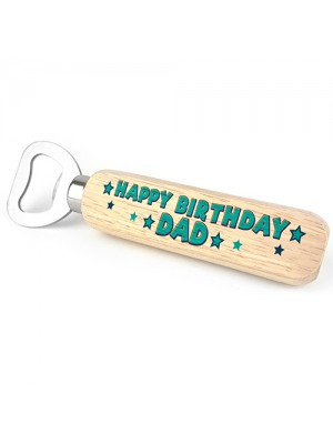 Wooden Bottle Opener Gift For Dad Birthday From Daughter Son