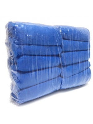 100 Premium Blue  Embossed Disposable Overshoes Covers