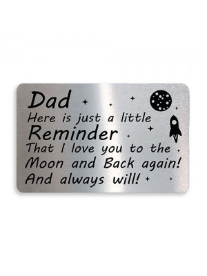 Novelty Dad Gifts Metal Wallet Card Gift For Dad Christmas