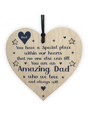 Amazing Dad Gifts For Birthday Wooden Heart Sign Thank You