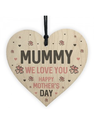 Mothers Day Gift for Mummy Wooden Heart Gift For Her Thank You