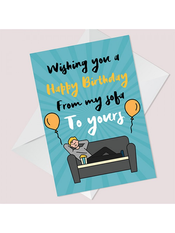 Funny Lockdown Birthday Card For Friend Mum Dad Brother Auntie