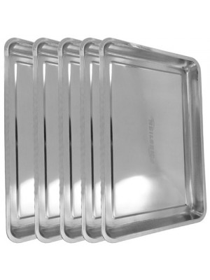 5 x Stainless Steel Drip Tray DIY Oil Floor Contamination 60x40