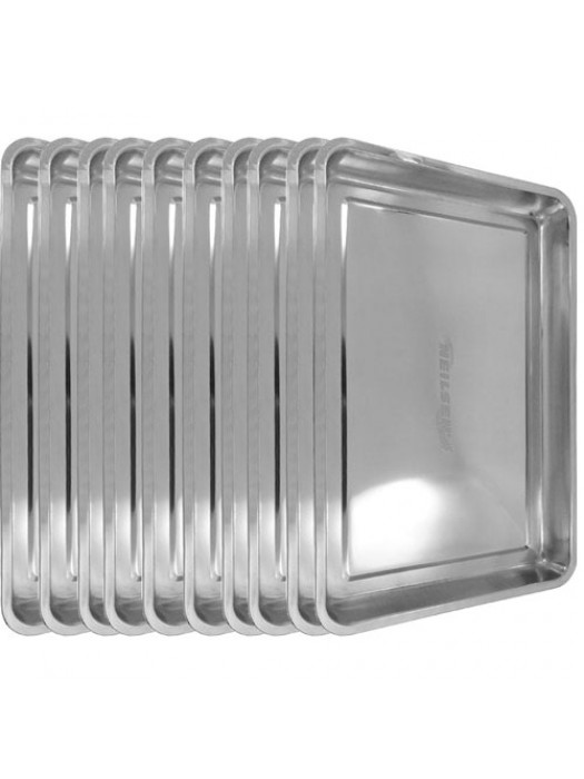 10 x Stainless Steel Drip Tray DIY Oil Floor Contamination 60x40
