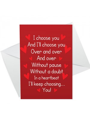 Anniversary Valentines Day Greetings Card For Boyfriend Husband