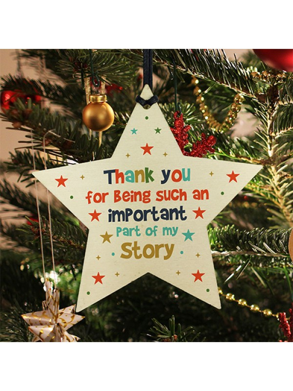 Thank You Gifts Wooden Star Plaque Thank You Gift For Leaving