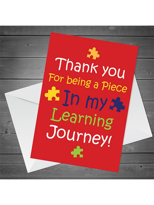End of Term Thank You Card For Teacher Teaching Assistant Card