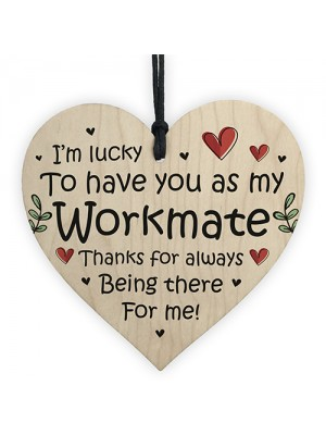 Thank You Wooden Heart Gift For Colleague Co Worker Leaving Job