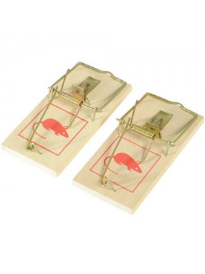2 Pack Of Classic Snap Treadle Mouse Traps