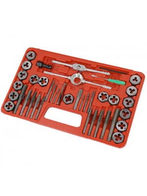 Heavy Duty 40pc Tap And Die Wrench Set + Storage Case