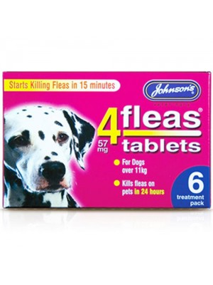 Johnson's Dog Flea Tablets - 6 Treatments - For Dogs Over 11kg