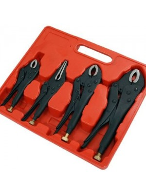 Heavy Duty 4 Pc Mole Grip Locking Wrench Pliers Tools Set