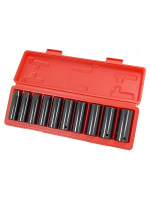 11 Piece 1/2 Inch Drive Deep Impact Socket Set