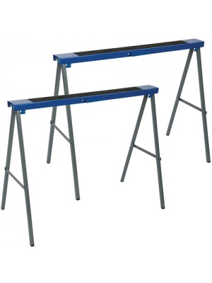 Silverline Twin Pack Metal Saw Horse Trestles - 125kg Max