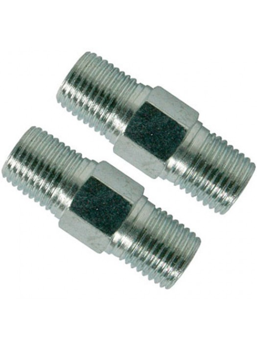 2 Pack Air Line Hose Equal Union Connector 6mm 1/4inch BSPT Male