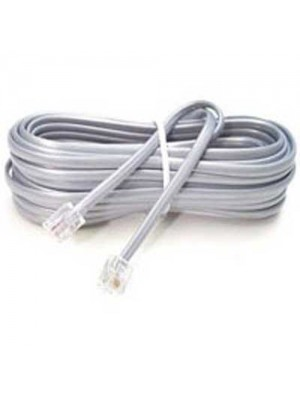 4 Pole RJ11 Male to Male Modular Cable 2m