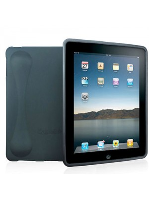 Cygnett Second Skin Silicon Case & Base Support for iPad - Black