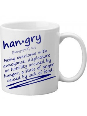 Real Meaning Of Hangry Scribble Style Novelty Defintion Mug