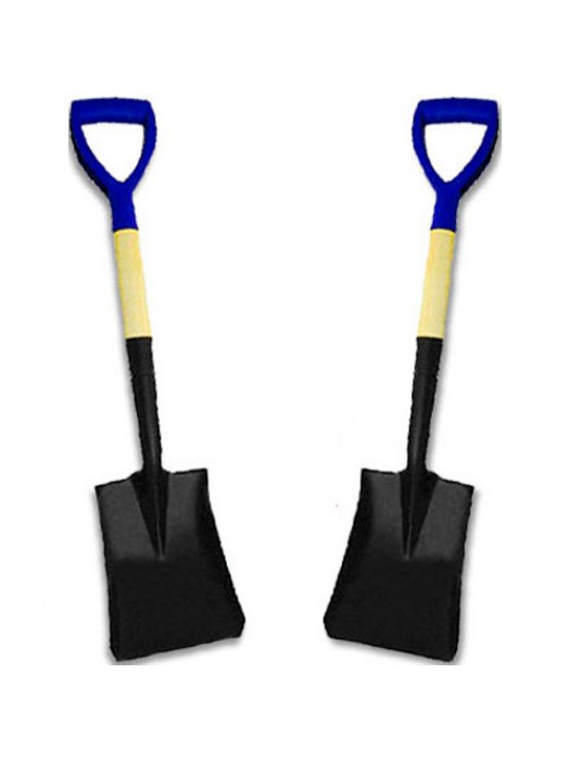 2 X Mini Square Nose Snow Scoop Shovel - Ideal For The Car Boot