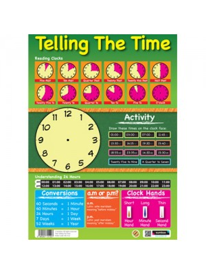 Sumbox Telling The Time Educational Poster - Write On Activities