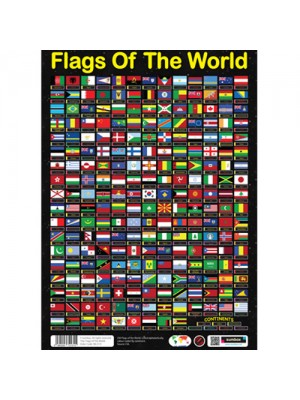 Sumbox Flags Of The World Educational Geography Poster 230 Flags