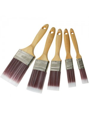 Silverline Synthetic 5 Pc Paint Brush Set - For Emulsion/Gloss