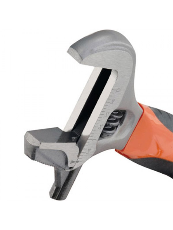 Wide Jaw 2 In 1 Adjustable/Pipe Wrench Spanner + Jaw Covers