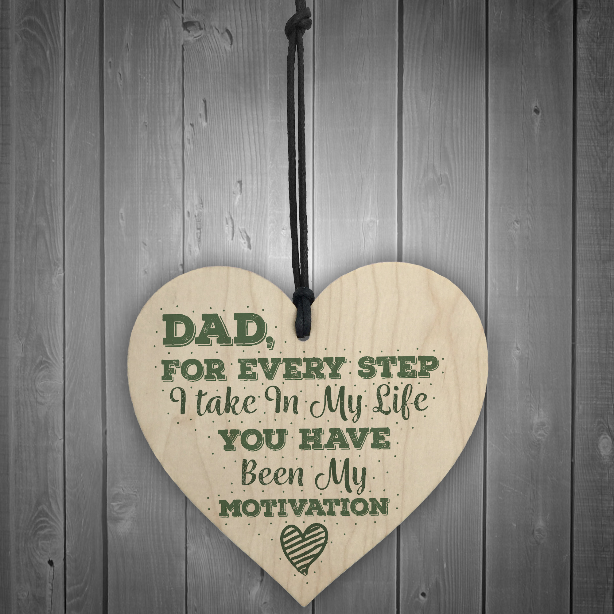 Details About Daddy Dad Stepdad Father Fathers Day Gift Birthday Wooden Hanging Heart