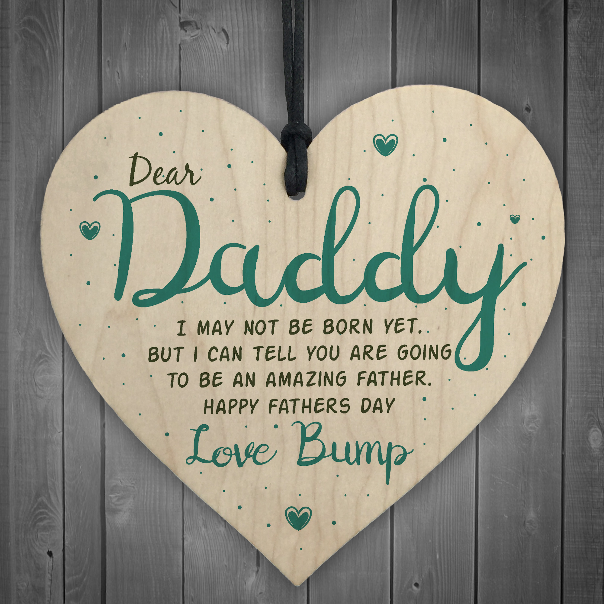 Details About Father S Day From P Gift Heart Dad To Be Daddy Card Baby Son