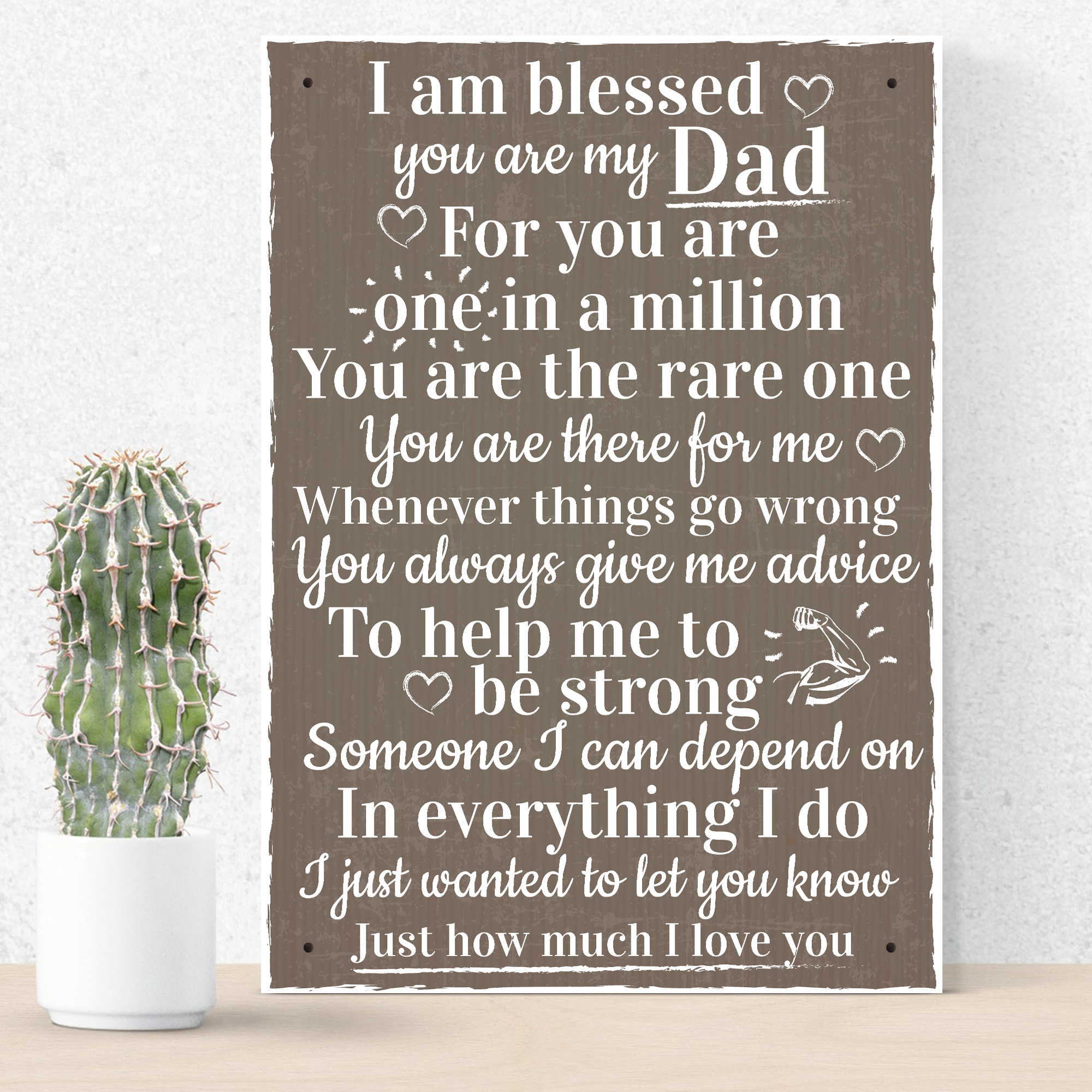 Details About Blessed You Are My Dad Daddy Fathers Day Signs Thank Birthday Gift For Him