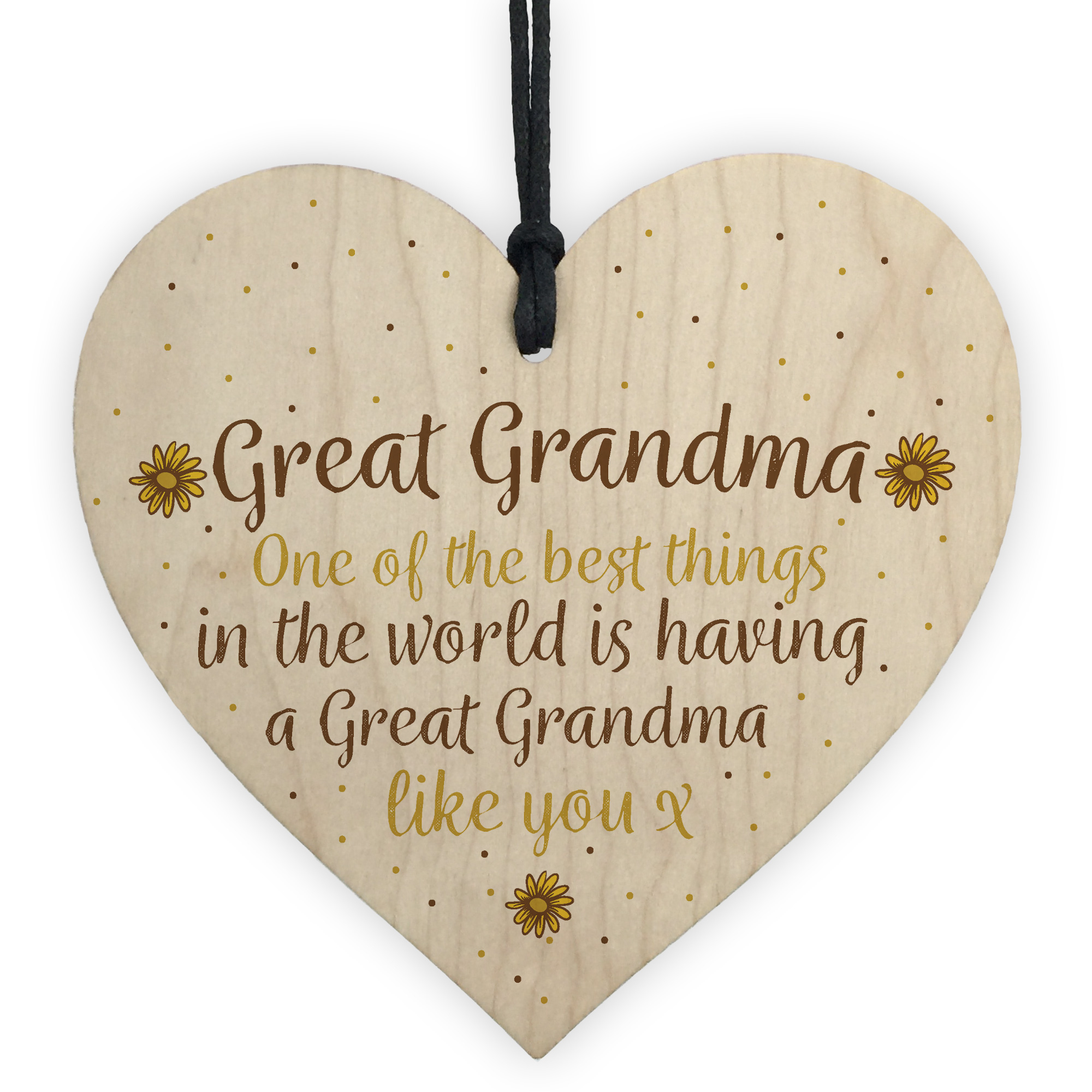 Details About Great Grandma Gift Wooden Heart Granparent Birthday For Her Gifts Women