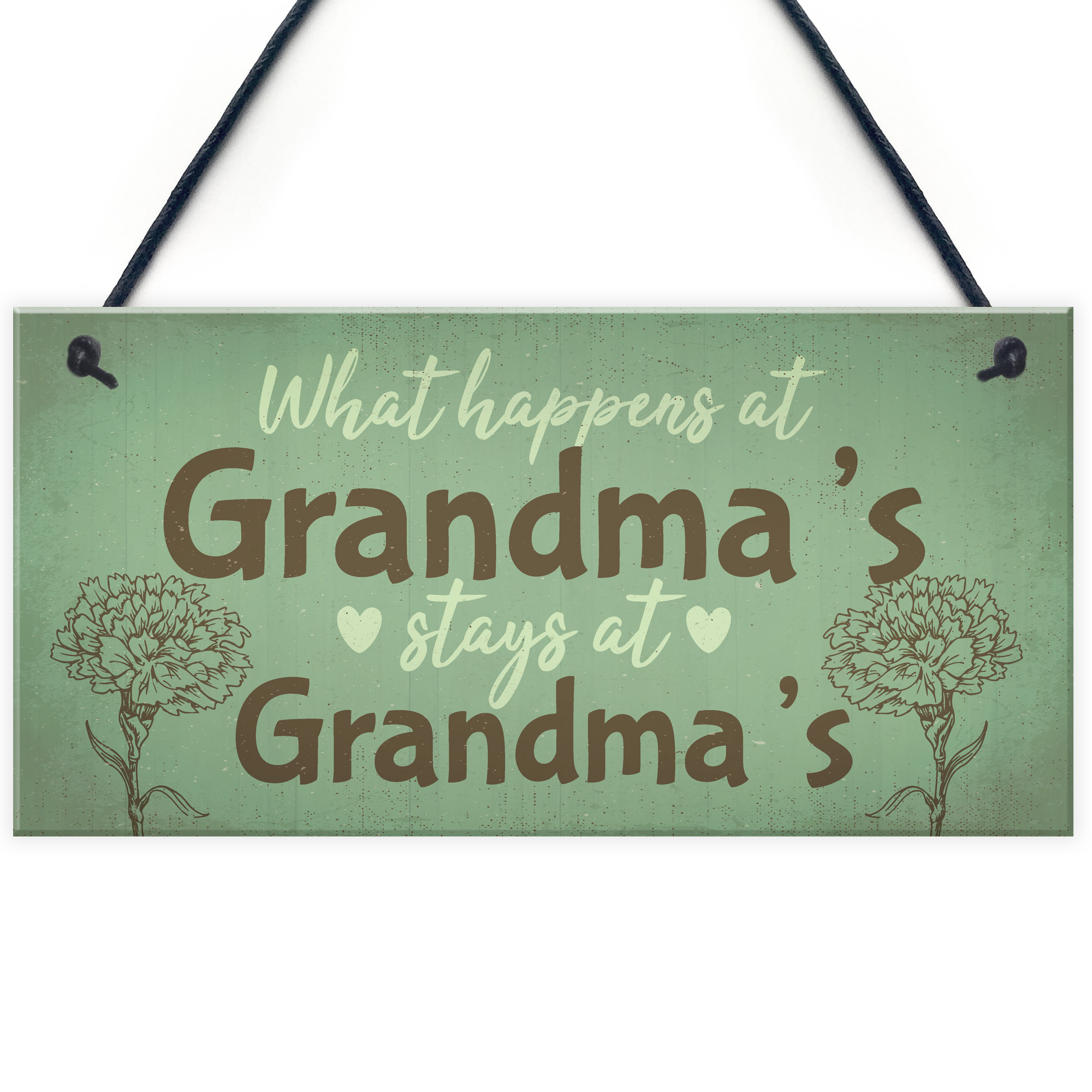 Details About Grandma Gifts For Nan Nanny Hanging Garden Sign Kitchen Plaque Birthday Gift