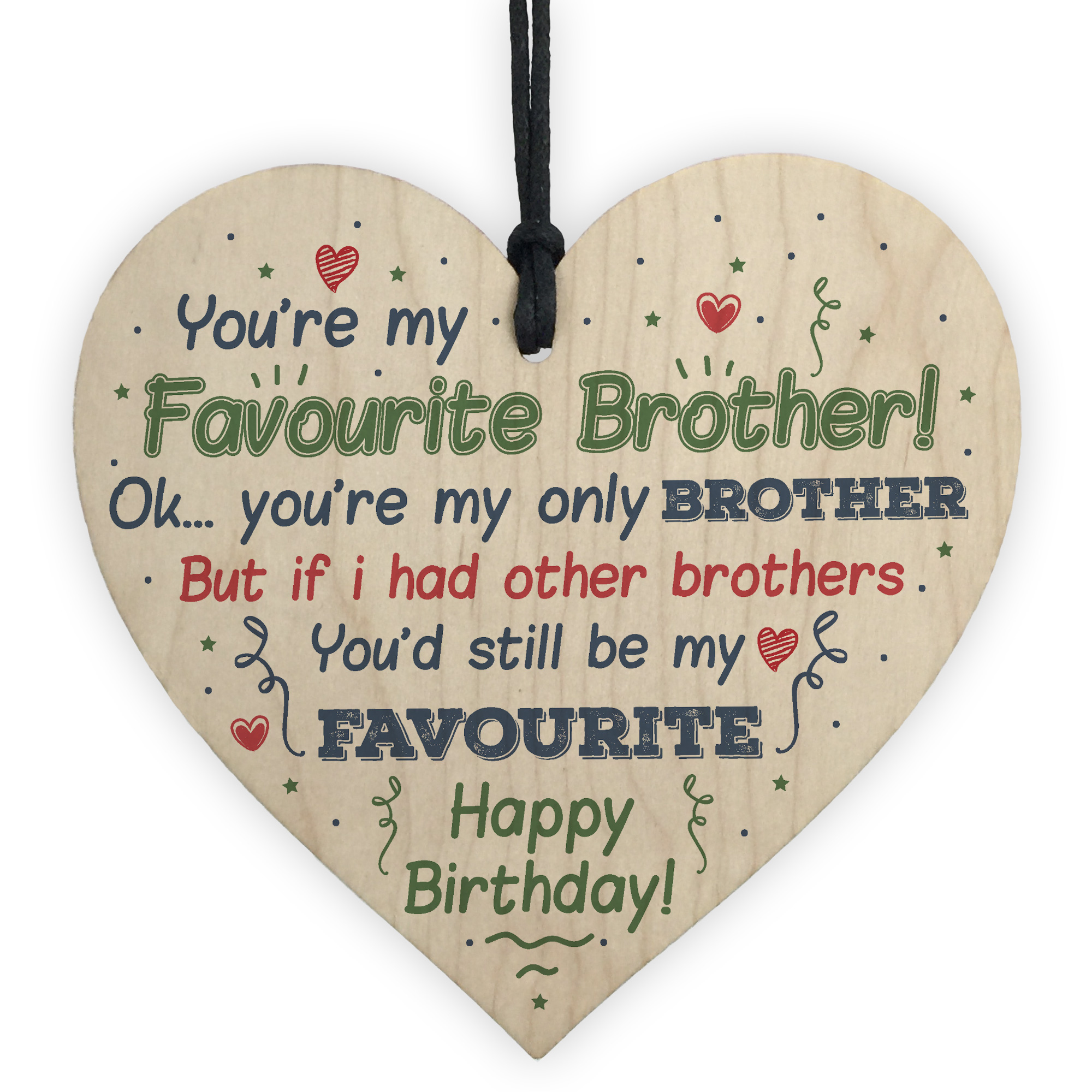 Details About Brother Birthday Gifts For Him Sister Mum Dad Funny Card Baby Family Plaque Gift