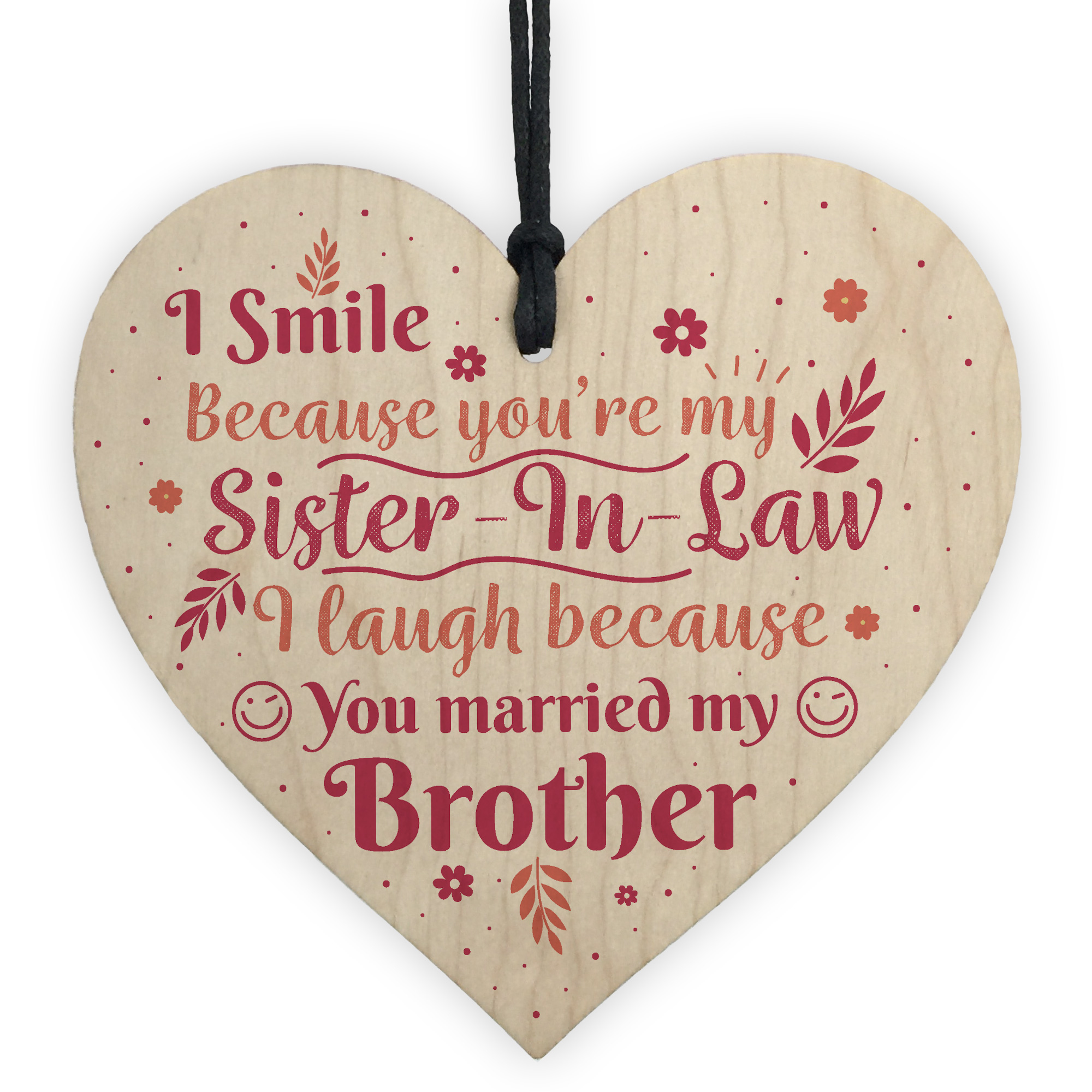 Details About Funny Sister In Law Birthday Card Heart Plaque Keepsake Friendship Gifts