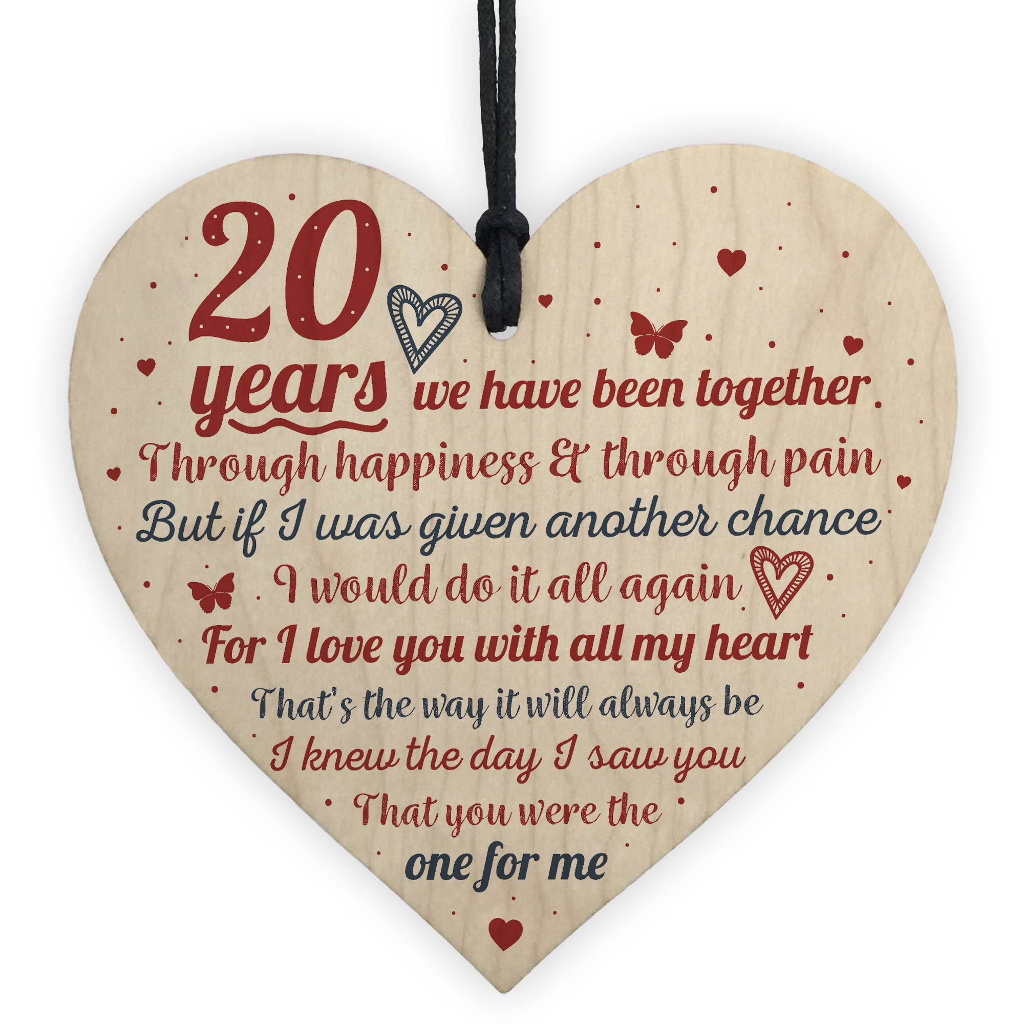 Details about Anniversary 8th Wedding Anniversary Engagement Wood Heart  Plaque Gift Keepsake